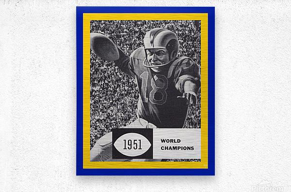 LA Rams 1951 World Champions Art  Metal print