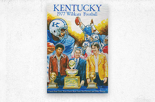 1977 Kentucky Football Poster  Metal print