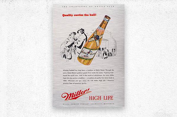 1947 Miller Beer Ad   Metal print