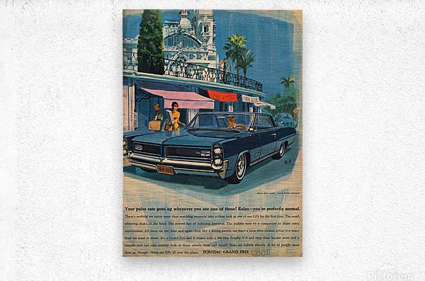 1964 Pontiac Grand Prix Car Advertisement  Metal print