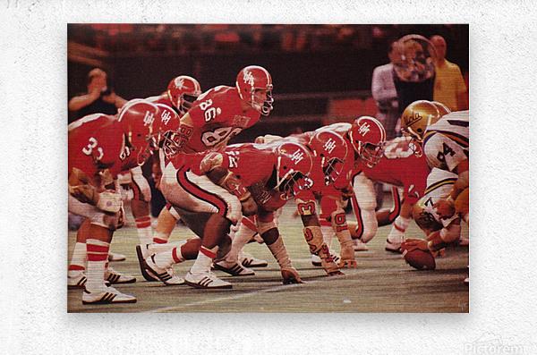 1977 UCLA vs. Houston Football Action  Metal print