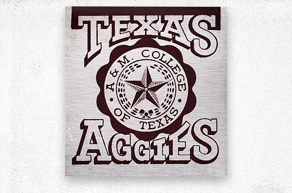 Vintage Texas Aggies Art  Metal print