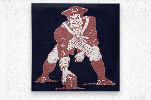 1976 New England Patriots Vintage Art  Metal print