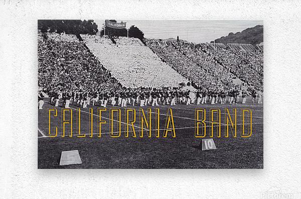 1937 California Marching Band Art  Metal print