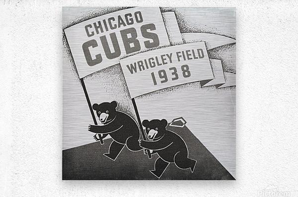 1938 Chicago Cubs Remix Row 1  Metal print