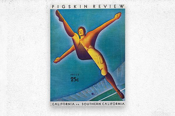 1932 California vs. Southern California  Metal print