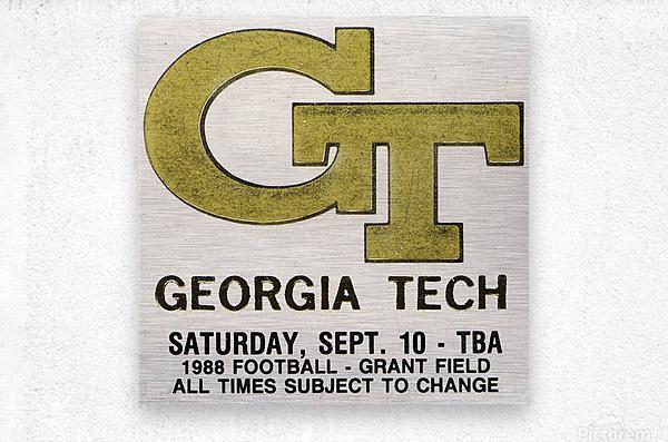 1988 Georgia Tech Football Ticket Stub Remix  Metal print