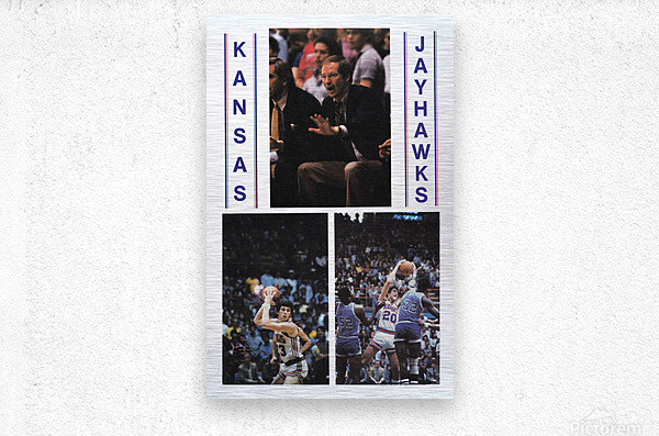 1982 Kansas Jayhawks Basketball Art  Metal print