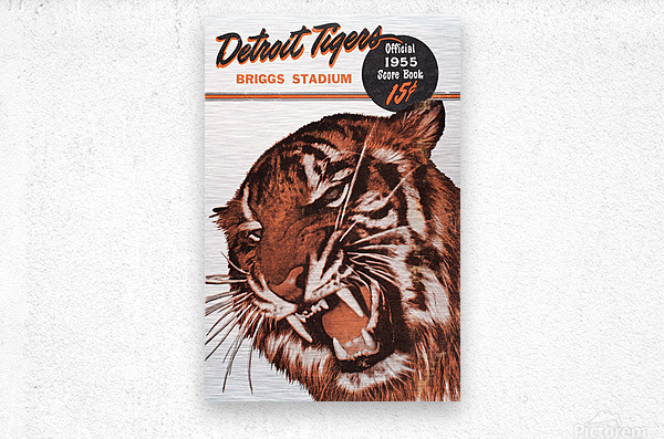 1955 Detroit Tigers Score Book Canvas  Metal print
