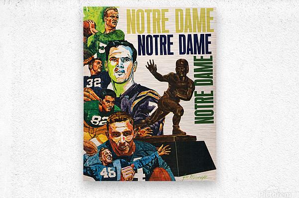 1968 Notre Dame Football Heisman Winner Art  Metal print