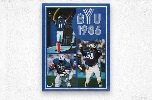 1986 BYU Cougars Football Art  Metal print