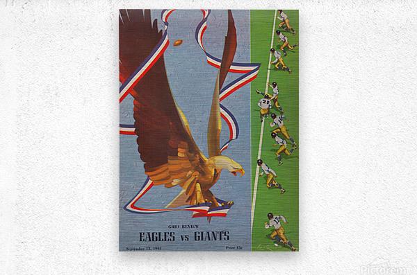 1941 Philadelphia Eagles vs. Giants  Metal print