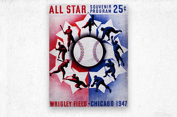 1947 Chicago All-Star Game Program Art  Metal print