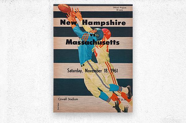 1961 Massachusetts vs. New Hampshire Wildcats  Metal print