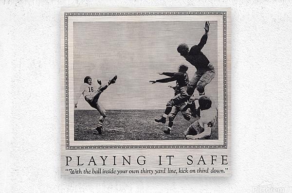 1938 Football Play it Safe Kick on Third Down  Metal print