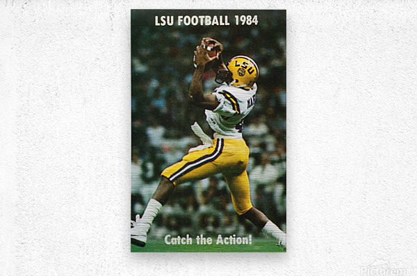 1984 LSU Tigers Football Catch The Action  Metal print