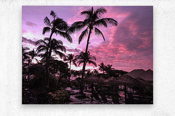 After the Beach Party - Tropical Sunset Hawaii  Metal print
