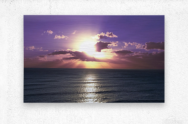 Tranquility - Relaxing Sunset over the Pacific  Metal print