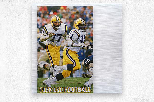 1986 LSU Retro Football Poster   Metal print