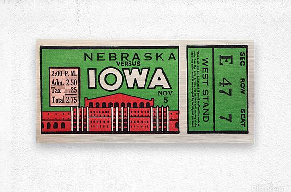 1932 Iowa Hawkeyes vs. Nebraska Cornhuskers  Metal print