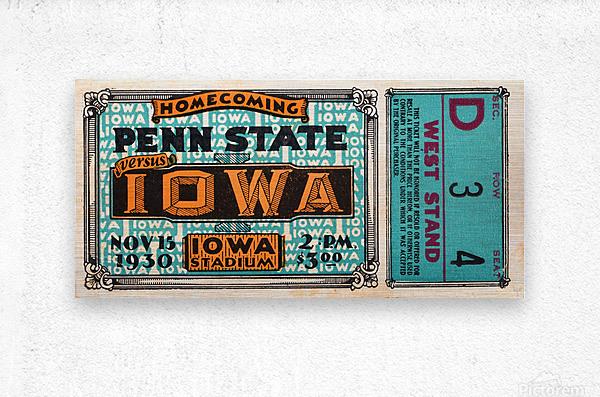 1930 Iowa vs. Penn State  Metal print