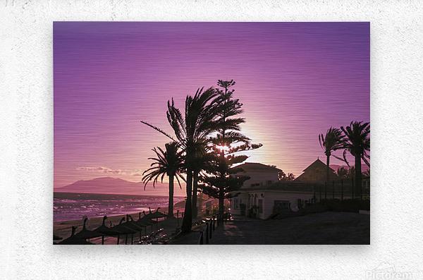 Sunset Costa Del Sol Spain  Metal print