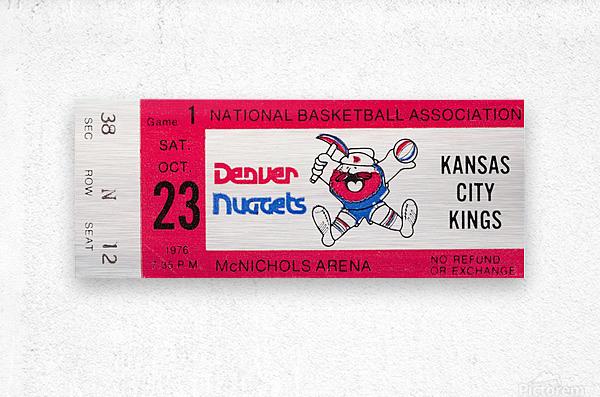 1976 Denver Nuggets First NBA Home Game  Metal print