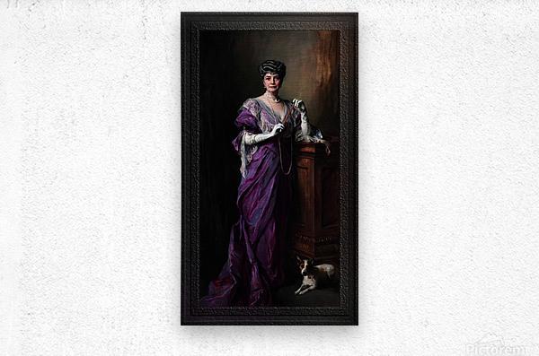 Lady White Todd by Philip de Laszlo Classical Fine Art Xzendor7 Old Masters Reproductions  Metal print