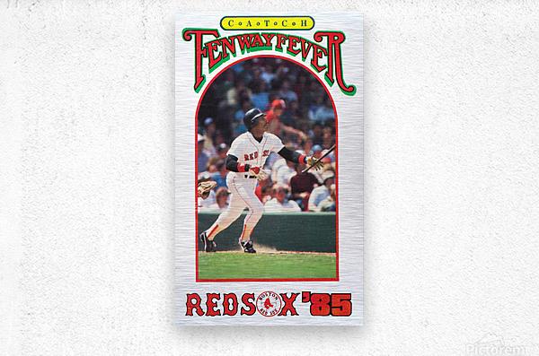 1985 Boston Red Sox Retro Poster  Metal print