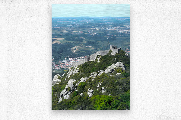 Castelo dos Mouros - Castle of the Moors - Sintra Portugal  Metal print