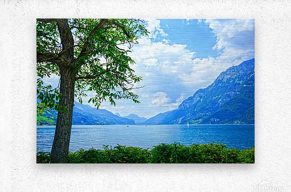 Snapshot in Time Walensee - Lake Walen Switzerland 3 of 3  Metal print