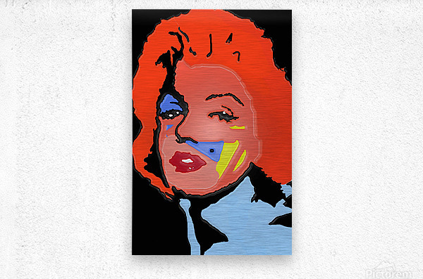 Marilyn in full color  Metal print