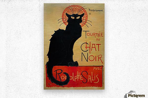 Theophile Steinlen - Tournee du Chat Noir  Metal print