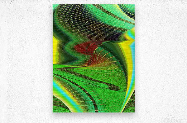 Brickabrack  Metal print