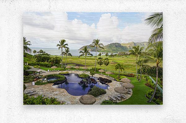 Welcome to Paradise   Kauai Hawaii  Metal print