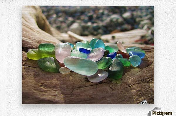 Sea Glass Colors  Metal print