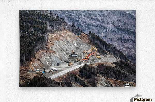 Mountain Moving  Metal print