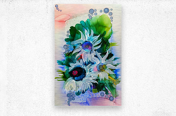 Floral Burst  Metal print