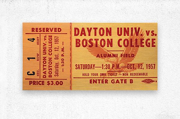 1957 Dayton Flyers vs. Boston College Eagles  Metal print