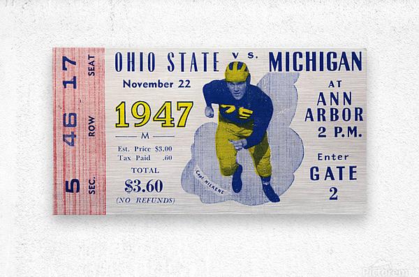 1947 Michigan Wolverines vs. Ohio State Buckeyes  Metal print