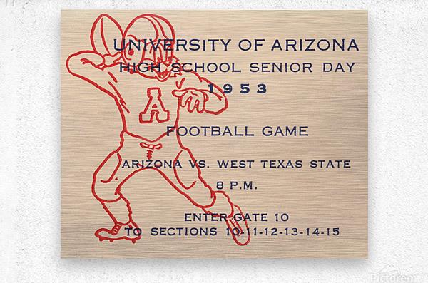 1953 Arizona Wildcats vs. West Texas State   Metal print