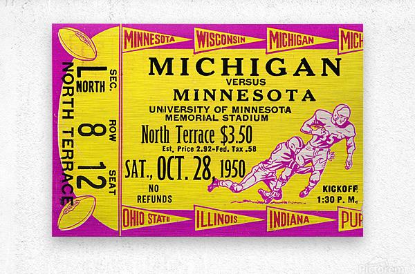 1950 Minnesota Golden Gophers vs. Michigan Wolverines  Metal print