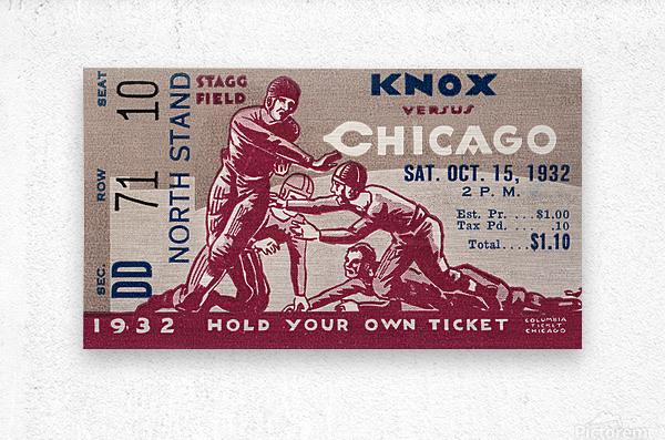 1932 Knox College vs. University of Chicago  Metal print