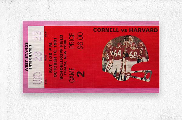 1981 Cornell Big Red vs. Harvard Crimson  Metal print