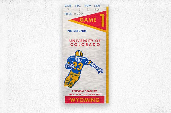 1971 Colorado Buffaloes vs. Wyoming Cowboys  Metal print