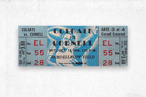 1946 Colgate Red Raiders vs. Cornell Big Red  Metal print