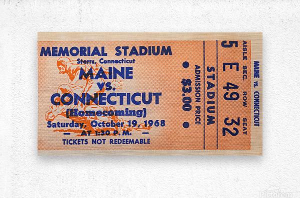 1968 Maine Black Bears vs. UConn Huskies  Metal print