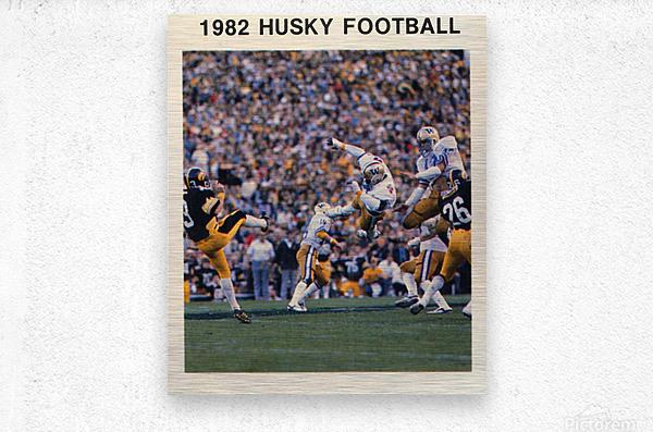 1982 Washington Husky Football Poster  Metal print