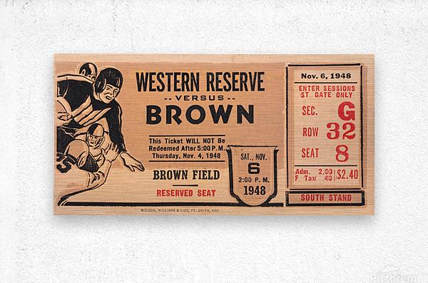 1948 Western Reserve Red Cats vs. Brown Bears  Metal print