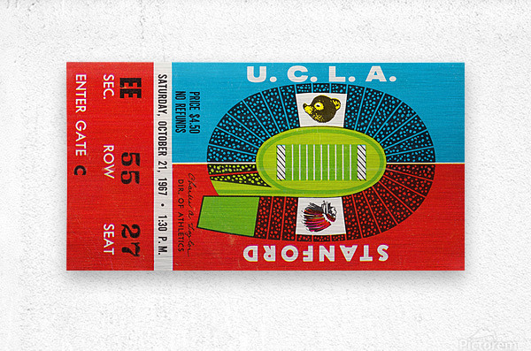 1967 UCLA Bruins vs. Stanford Indians  Metal print